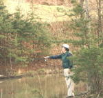 Jim fly fishing